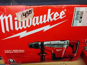 "MILWAUKEE 1 3/4 "" SDS ‐ MAX ROTARY HAMMER ( TOOL ONLY) for Sale in Fontana, CA"