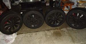 20inch black rims for Sale in Downey, CA
