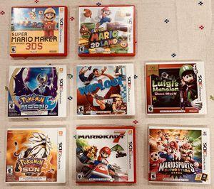 8 Nintendo 3DS game bundle for Sale in Plantation, FL