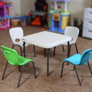 Kids table with 2 chairs green/blue for Sale in Plainfield, IL