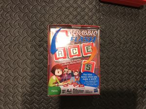 Good board games one is scramble flash and is new and the other is monopoly junior for Sale in Alexandria, VA
