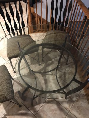 Glass table and chairs for Sale in Lockport, IL
