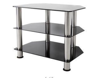 """AVF Black Glass Floor Stand with Chrome Legs for TVs up to 32"""" A10-9014 for Sale in St. Louis, MO"""
