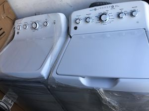 New GE washer 4,5 cu ft and 7,5 cu ft electric dryer for Sale in Alameda, CA