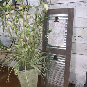 Farmhouse Bundle / Frame and Fake Plant for Sale in Deltona, FL