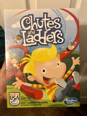 Chutes & Ladders Kids Classic Be the first to move your child-shaped playing piece from square one to square 100 on the Chutes and Ladders game board for Sale in Brooklyn, NY