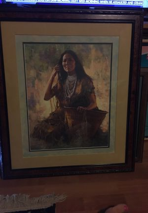 """""""Isdzan - Apache woman"""" numbered signed print for Sale in Cohasset, CA"""