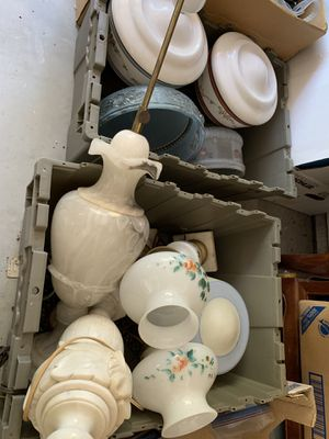 VINTAGE ANTIQUE LAMPS AND GLASS SHADES $50 for Sale in San Diego, CA