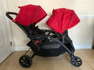 Options double stroller also has a baby swing $80 for Sale in Knightdale, NC