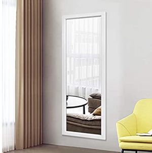 Wall mirror brand new full length 44 x 16 wall / door mirror. white for Sale in Freeport, NY