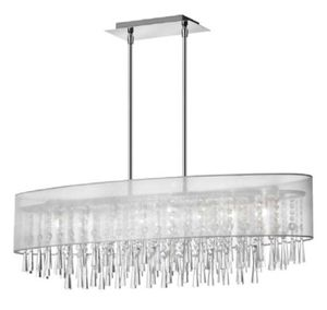 Beautiful Chrome Chandelier, 8 light for Sale in Brea, CA