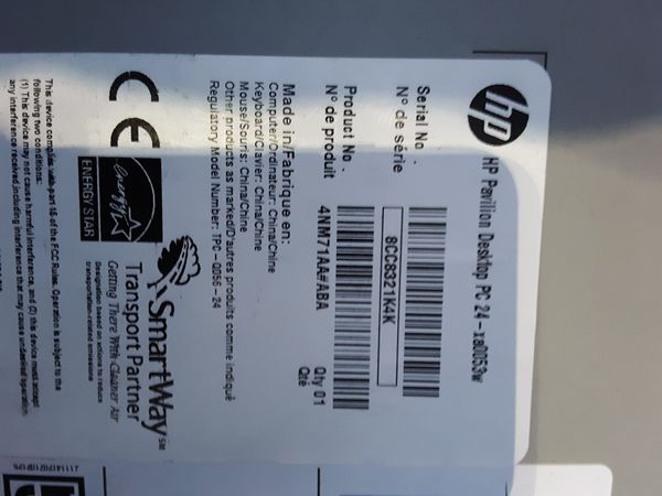 HP all in one 23.8 inch screen BRAND NEW IN BOX HP-XA0053W