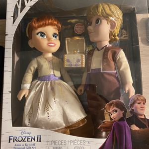 """Frozen 2 Anna & Kristoff 14"""" dolls $40 brand new never opened for Sale in Huntington Beach, CA"""