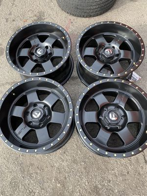 "17"" Black Fuel Wheels Rims F-150 F 150 D61817908945 Podium for Sale in Seal Beach, CA"