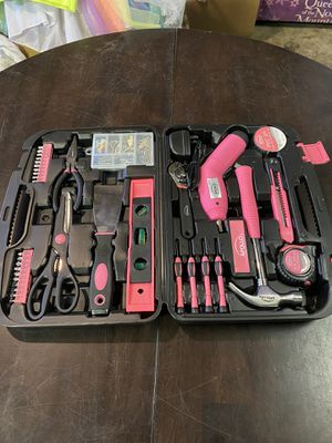 135 Piece Women Household Tool Case Set Ladies Box Kit Home Repair Tools Pink for Sale in Los Angeles, CA