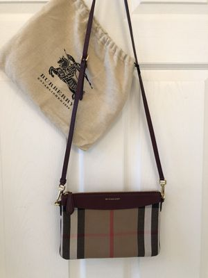 Burberry Peyton House Check red leather crossbody for Sale in Logan Township, NJ