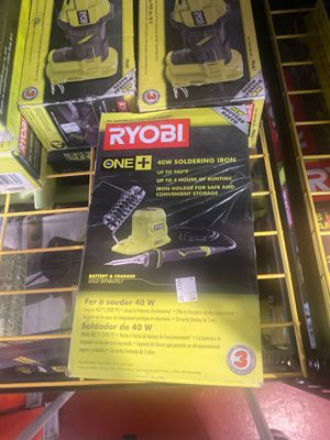 Brand new Ryobi cordless soldering iron with battery and charger only asking $75 for Sale in La Habra, CA