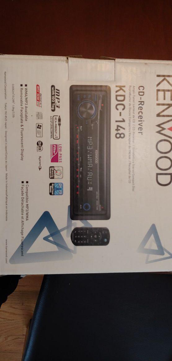 In-dash CD, MP3, WMA receiver car stereo