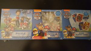 Paw Patrol Game Pack: Puzzle, Popper Jr, for Sale in Queens, NY