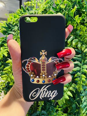 Brand new cool iphone 6+ PLUS case cover rubber silicone king crown guys mens mens guys hypebeast hypebae womens girls hype swag for Sale in San Bernardino, CA