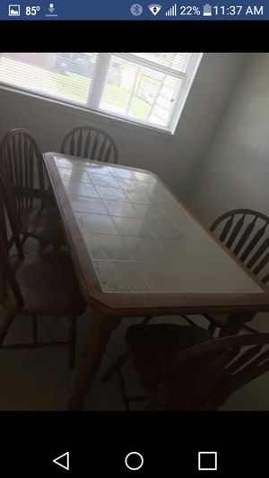 Kitchen table with 6 chairs and microwave for Sale in Wichita, KS