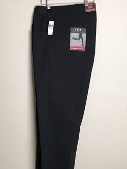 Men's Dress Black Pants by Van Heusen Flex3 Comfort Size 54 X 30MSRP $80 New with tags for Sale in French Creek,  WV