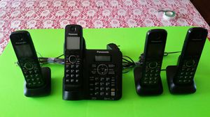 Panasonic cordless phone set. 6.0 Plus. Base + 3 for Sale in Madison Heights, VA