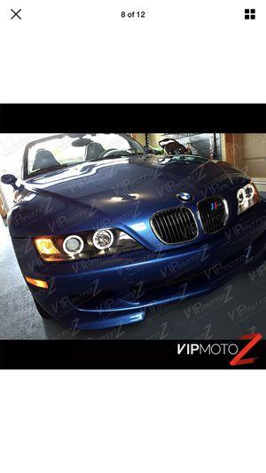 "Ew 1996-2002 BMW Z3 ""M-POWER"" Black Angel Eye Halo Ring Projector Headlights LH+RH for Sale in Union Park, FL"
