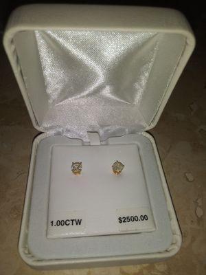 1.00ct diamond earings for Sale in Phoenix, AZ