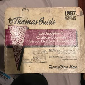 Thomas Guide 1987 for Sale in Anaheim, CA
