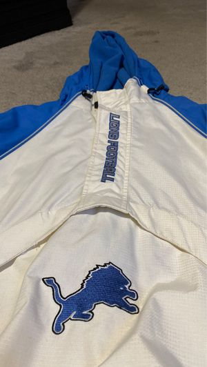 Detroit Lions hoodie jacket men's size Medium for Sale in Woodhaven, MI