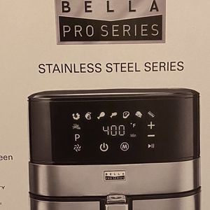 New Bella Stainless Steel Touchscreen Digital Air Fryer 5.3 Qt. for Sale in Westley, CA