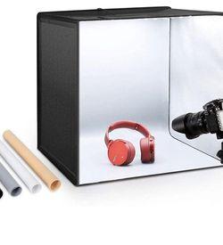 "Photo Studio Light Box 20""/50cm Adjustable Brightness Portable Folding Hook & Loop Professional Booth Table Top Photography Lighting Kit 120 Led Light for Sale in Santa Clara,  CA"