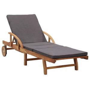 🔥 Solid Acacia Wood Sun Lounger with Cushion Outdoor Lovèseàt Søfa Chàir for Sale in Oceanside, CA