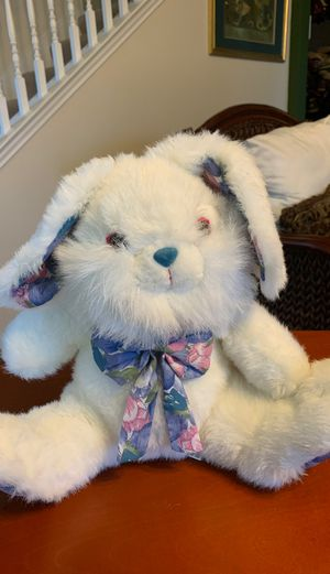 Ace novelty company bunny rabbit stuffed animal with floral accent for Sale in Killeen, TX