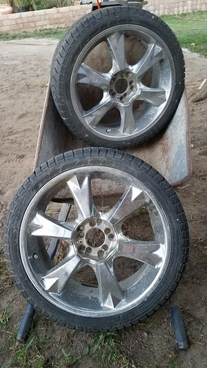 Two 18' rims and tires for Sale in Bloomington, CA