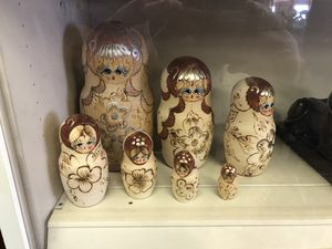 Nesting Doll 7 piece hard carved for Sale in Albuquerque, NM