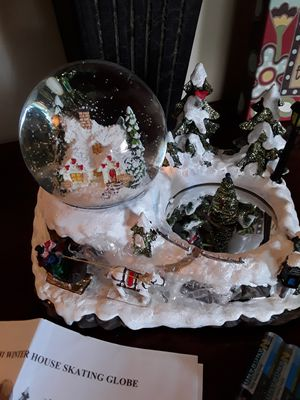 Christmas House &Ice Skating Snowglobe- Brand New in Box for Sale in West Covina, CA