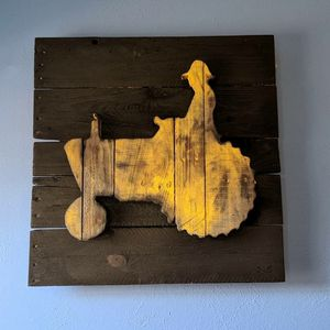 Yellow Tractor Pallet Wall Art 24 x 24 for Sale in Aurora, CO