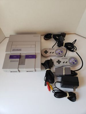 Super Nintendo console with games for Sale in Peoria, AZ