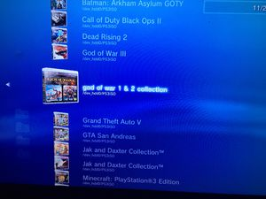 PS3 slim 500gb jailbroken with 145 games installed. Don't have the Controller anymore for Sale in Dallas, TX