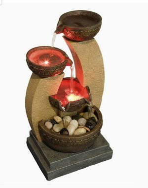 Tranquility Fountain With Color Changing Lights And Soothing Water Sounds 11inches Brand New and in the box for Sale in Bowie, MD