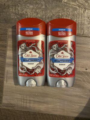Old spice wolfthorn deodorant $3 each for Sale in San Bernardino, CA