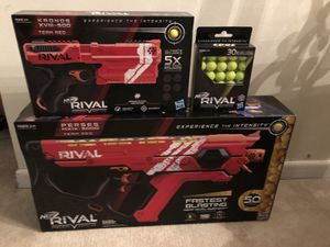 Nerf Rival Perses MXIX-5000 & Kronos XVIII Guns & 30 extra rounds for Sale in Miami, FL