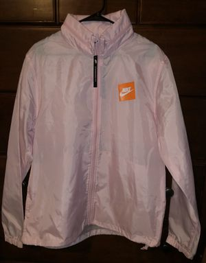 NIKE PINK BOX LOGO JUST DO IT JACKET SIZE L NWT for Sale in Gainesville, VA