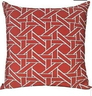 Accent pillows orange set of 2 oversized 24x24 patio furniture pillows couch pillows bed pillows for Sale in Cleveland, OH