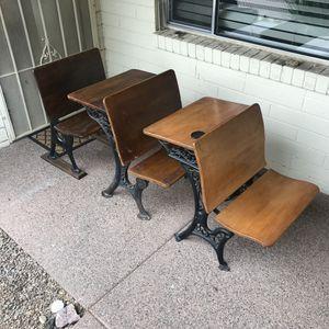 Antique school furniture - 3 pieces for Sale in Phoenix, AZ