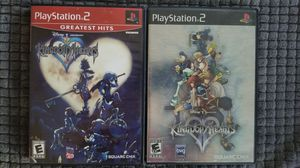 PS2 Playstation 2 game lot Kingdom Hearts Kingdom Hearts II black label complete for Sale in El Paso, TX