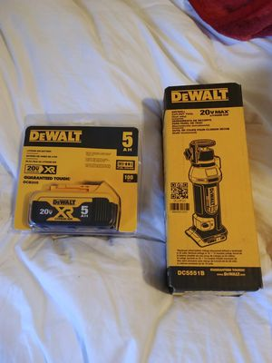 DeWalt Drywall cut out tool and 5AH battery for Sale in Manassas, VA