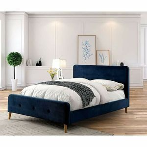 NAVY BLUE QUEEN OR FULL SIZE BED for Sale in Upland, CA